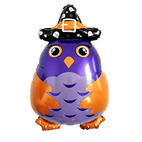 AMOSFUN Deko-Eulen-Ballon, Halloween-Dekoration, Partyzubehör