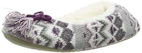 totes-women-ladies-fairisle-ballet-low-top-slippers-multicolor-grey-berry-m-uk-38-39-eu