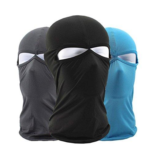 Balaclava 3 PCs, Motorrad Maske - iParaAiluRy elastische Outdoor taktische Winddicht staubdicht Lycra Gesichtsmaske Bretheable kaltem Wetter Ski Maske (Erwachsene Hut Navy Pilot)