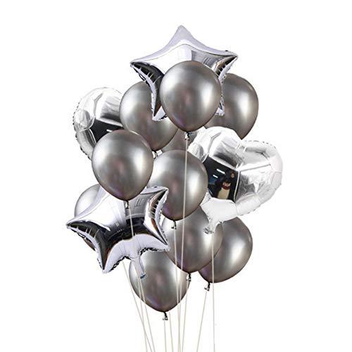 pielzeug) 14 Zoll 18 Zoll Luftballons Sterne Herz Alles Gute Zum Geburtstag Partydekorationen Kinder Erwachsene Ereignis Hochzeit Helium Ballon Miraculous Marienkäfer, Dunkelgrau ()