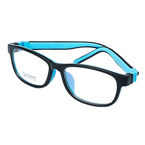 Juleya Kinder Gläser Rahmen - Silikon - Kinder Brillen Clear Lens Retro Reading Eyewear für...