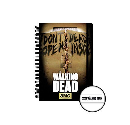 The Walking Dead Notebook Dont Open Dead Inside oficial AMC A5, rayas, talla única