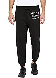 American Crew Mens Black Jogger With Embroidery -XL (ACTP242-XL)