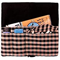 """Funda tabaco de liar de tela a cuadros""""farcell"""", bolsillos para tabaco, papel, mechero y boquillas"""
