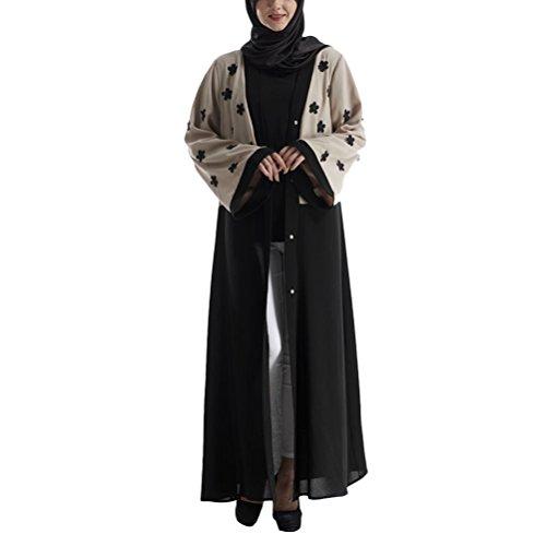 Zhuhaitf Heiße Verkäufe Muslims Women Long Sleeve Dresses Color Designer Cardigan Ladies Abaya Clothes Robe for Arab Turkey Middle East