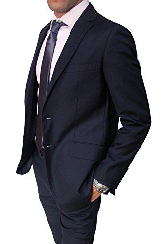 fc49609f3006b Elegante Abito da Uomo Blu Scuro Sartoriale Blu Completo Vestito Casual  Slim Fit Aderente