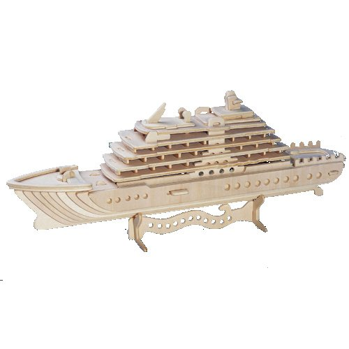 Etna Iława Luxusyacht 3D Holzbausatz Schiff Boot Holz Steckpuzzle Holzpuzzle Kinder P119