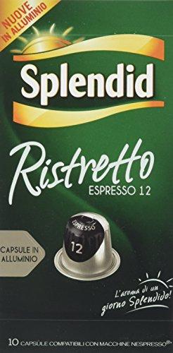 Splendid Capsule in Alluminio Nespresso Compatibili Intensità 12 - Pacco da 100 capsule