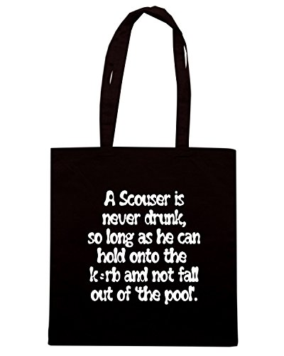 T-Shirtshock - Borsa Shopping OLDENG00375 a scouses is never drunk Nero
