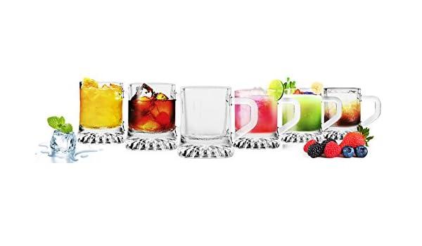 6 Schnapsgläser Tequilagläser Gläser mit Henkel Schnapsglas Shots Wodkagläser