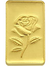 TBZ - The Original 20 gm, 24k(999) Yellow Gold Rose Precious Coin