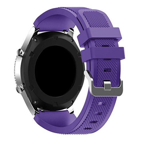 Neue Art- und Weisesport-Silikon-Armband-Bügel-Band für Samsung Gear S3 Classic ,Kaiki Kompatibel für Samsung Gear S3 Classic Armband (Purple)