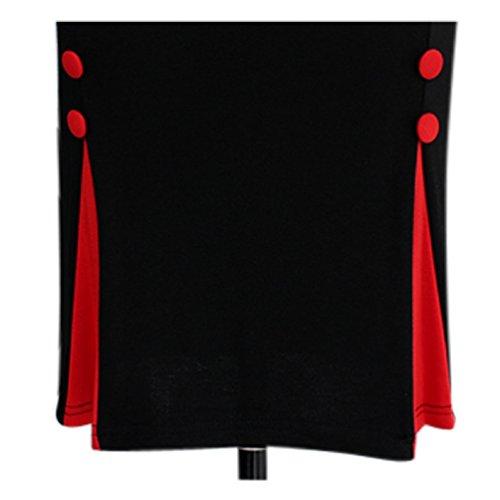 Neue Rockabilly 40er 50er Jahre Elegantes Wiggle Bleistift Kleid (36, Schwarz & Rot) -