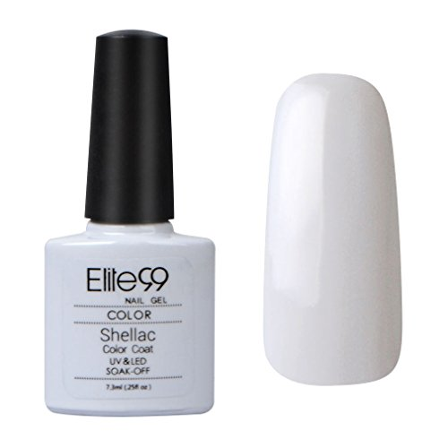 Elite99 Shellac UV LED Gel auflösbarer Nagellack white weiß Schneeweiß neu NEU 7.3ml Nagelgel Farbgel Farblack (1 x 7.3ml)