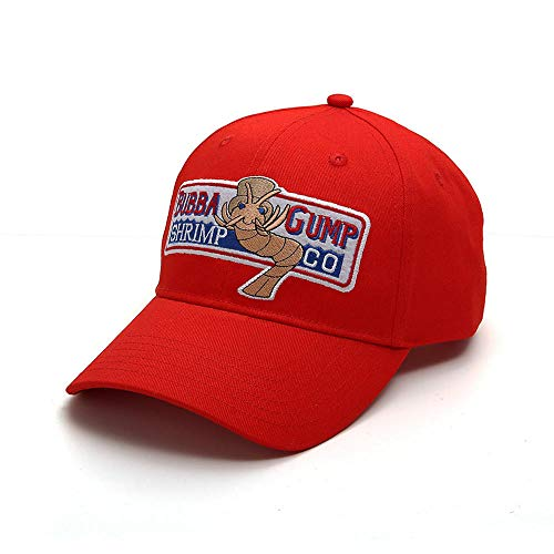 YanLong Takerlama 1994 Bubba Gump Shrimp Co. Baseballmütze Forrest Gump Kostüm Cosplay Bestickte Hysteresenkappe Männer & Frauen Sommerkappe@Rot