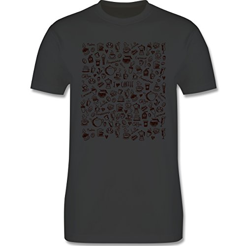 Statement Shirts - Kaffee Scribble - Herren Premium T-Shirt Dunkelgrau