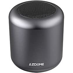 Enceinte Speaker Bluetooth 4.2 AZDOME 5W Haut-Parleur sans Fil Mains Libres Surround 360°Stéréo 8h Autonomie Support Carte TF Compatible avec iPhone Samsung Huawei et Tablette