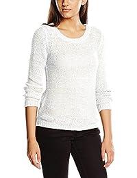 ONLY Damen Onlgeena XO L/S Pullover Knt Noos Weiß (White White), 36 (Herstellergröße:S)