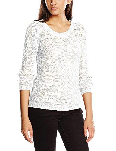 Only Onlgeena XO L/S Pullover Knt Noos - Felpa Donna Bianco (White White)
