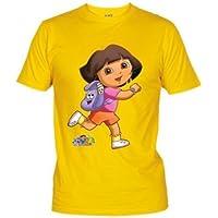 """Camiseta Dora la Exploradora """"Mochila"""" (Talla: 9-10 años, Color: Amarillo) - Cosmética y perfumes - Comparador de precios"""