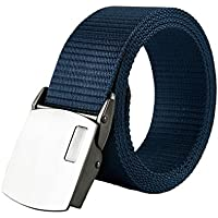 XIANGYINGZHIJIA Belt Canvas Belt Belt Belt Belt Casual Belt, 130cm, Royal Blue