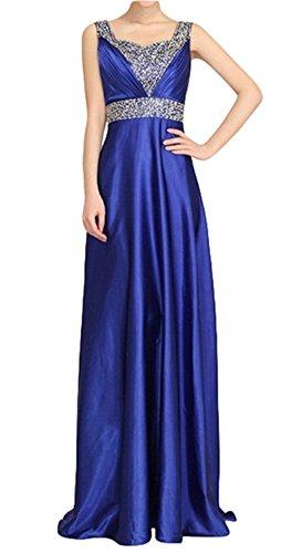 PLAER mode perlée longue robe de mariée de mariée Cocktail robe de soirée sexy Bleu