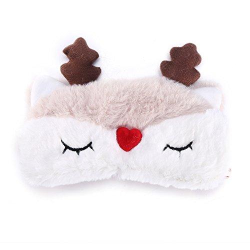 Farben Cute Animal Eye Cover Schlafmaske Weihnachten Hirsch Winter Karton Nickerchen Eye Shade Maske(Rentier) ()