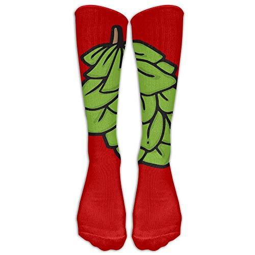 Mabell Green Beer Hops Unisex Tube Socks 100% Brand New Elastic Comfortable Knee High Socks Knee Length Socks