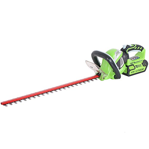 Greenworks G40HT61 40v Cordless Hedge Trimmer 610mm Blade without Battery or Charger (Cordless Hedge-trimmer)