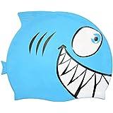 Vosarea Gorro de baño para niños Gorro de baño para bebés de tiburón y pequeños Peces