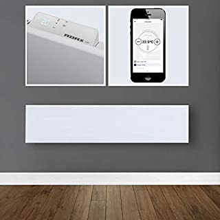 Adax Neo WiFi Skirting Electric Convection Radiator Smart Home Panel Heater, White, 800W