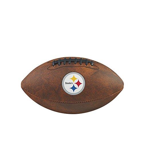 NFL Pittsburgh Steelers Junior Wilson Throwback Fußball, 27,9cm, braun (Junior Fußball Wilson)