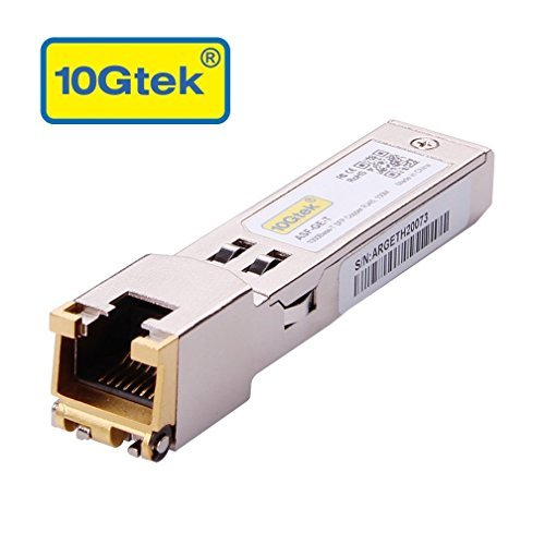 10Gtek® Gigabit SFP RJ45 Modul, 1000Base-T SFP Kupfer Transceiver, Kompatibel für Cisco GLC-T/ SFP-GE-T, Ubiquiti UF-RJ45-1G, Zyxel, D-Link, Open Switch, MEHRWEG -