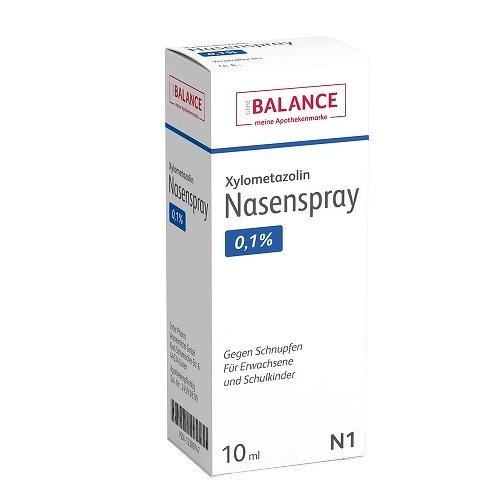 XYLOMETAZOLIN 0,1{f65cd829c717be8bcc1d7b02c4131af1f8286065a13c7f705e6b5518a94c0143} Nasenspray Balance 10 ml Nasenspray