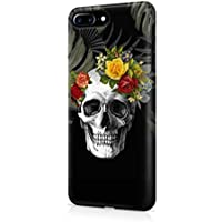 Rose Floral Death Skull Tropical Jungle Apple iPhone 7 PLUS SnapOn Hard Plastic Phone Protective Case Cover