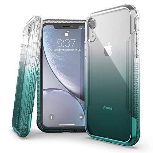 X-Doria Defense Air Series iPhone XR Schutzhülle - Militärqualität, Falltest aus eloxiertem Aluminium, TPU und Polycarbonat Schutzhülle für Apple iPhone XR, 15,1 Zoll LCD-Bildschirm, blaugrün Series Lcd