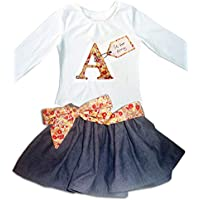 Girls Personalised Skirt and Top Set