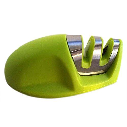Wdj Messerschärfer Maus Messerschleifer Mit 2 Stufen Für Küche Vorschliff Und Feinschliff 100 * 45 * 45Mm (Rot),Green
