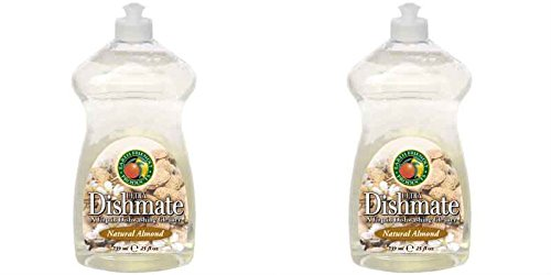 2-pack-earth-friendly-products-dishmate-wash-up-liquid-almond-750ml-2-pack-bundle