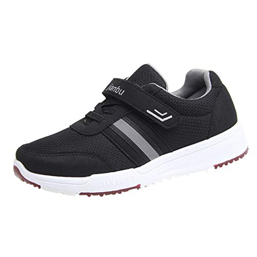 Yvelands Damen Freizeitschuhe Outdoor Mesh Striped Sport Runing Breathable Sneakers Schwarz(Damen) 39