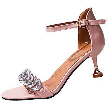 LvYuan Da donna Sandali Comoda PU (Poliuretano) Estate Comoda A stiletto Nero Beige Rosa 7,5 - 9,5 cm blushing pink