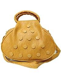 Women's Leather Sling Bag (Brown) - B078NWN5JS
