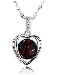 Lily joyas Elegant brillantes Swarovski elemento cristal austriaco Love corazón Colgante Collar para las mujeres