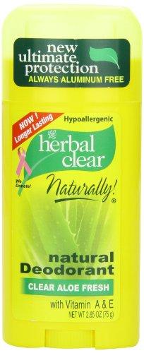 Herbal Clear Naturally Déodorant purifiant et rafraîchissant à l'aloé 78 ml