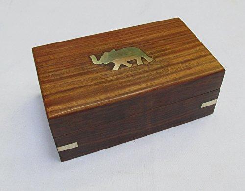 Holz Elefant Gravur handgeschnitzten Schmuck Box/Urne für women-men Jewel | Home Decor Akzente | Speicherung und Organizer (Holz-mittelstücke)