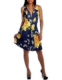Sommerkleid Partykleid Cocktaildress Romantisches Rosen Druck Design