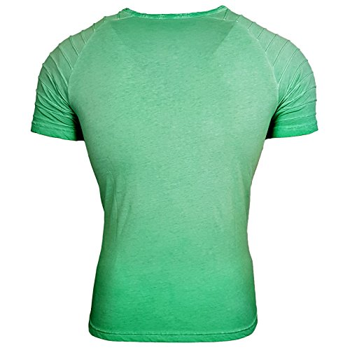 HERREN grau weiß grün T-Shirts Druck Größe S M L M XL XXL kurzarm Text RN15049 Grün