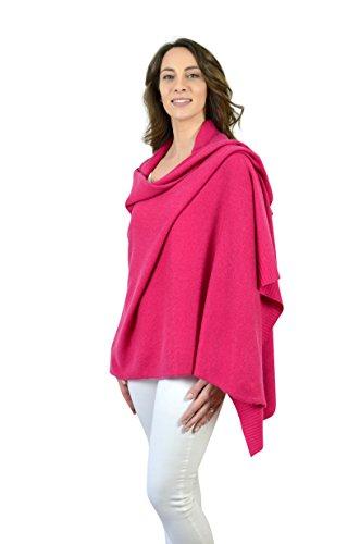 Fuchsia Rosa 100% Cashmere Wrap Schal Schal in Geschenkbox -