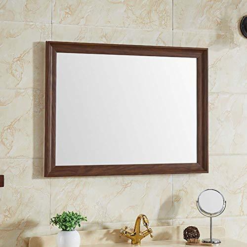 Bathroom mirror specchio per il bagno a parete_  bagno rettangolo cornice  trucco decorazione murale specchio fatto a mano legno massello