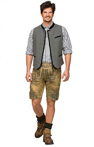 Michaelax-Fashion-Trade Stockerpoint - Herren Trachten Weste in verschiedenen Farben, Alonso, Größe:52, Farbe:Grau - 2
